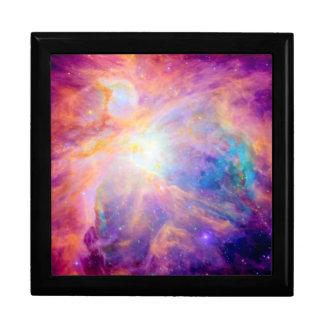 Orion Nebula Colorful Pink Purple Large Square Gift Box