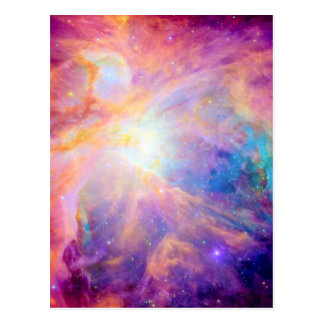 Orion Nebula Colorful Pink Purple Postcard