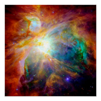 Orion Nebula Colorful Poster