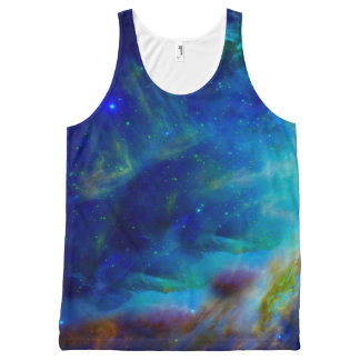 Orion Nebula cosmic galaxy space universe All-Over Print Singlet