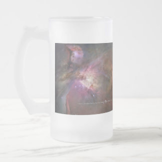 Orion Nebula Frosted Glass Beer Mug