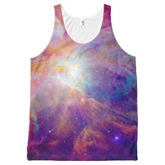 Orion Nebula Fuschia Pink NASA All-Over Print Singlet