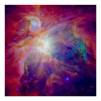Orion Nebula Fuschia Pink NASA Poster