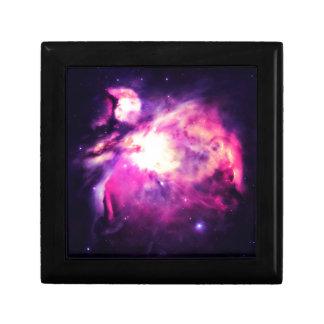 Orion Nebula Hauntingly Beautiful Purple Small Square Gift Box