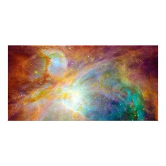 Orion Nebula Hubble Spitzer Space Photo Card