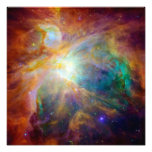 Orion Nebula (Hubble & Spitzer Telescopes) Photograph