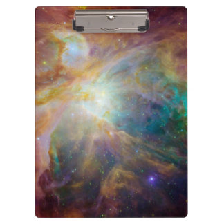 Orion nebula in space clipboard