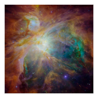 Orion nebula in space poster