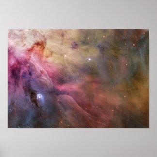 Orion Nebula pink Poster