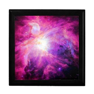 Orion Nebula Pink Purple Galaxy Large Square Gift Box