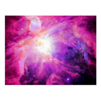 Orion Nebula Pink Purple Galaxy Postcard