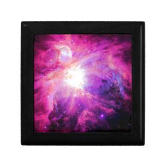 Orion Nebula Pink Purple Galaxy Small Square Gift Box