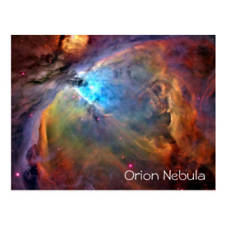 Orion Nebula Postcard Blank Inside