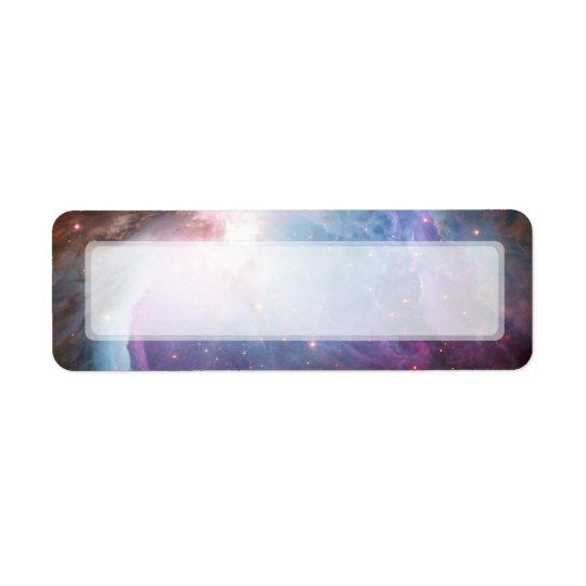 Orion Nebula Purple Space Return Address Label