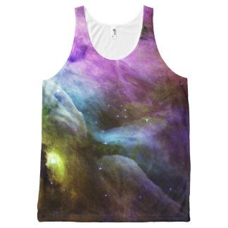 Orion Nebula purple swirls NASA All-Over Print Singlet
