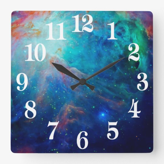 Orion Nebula shimmering blue NASA Wall Clock