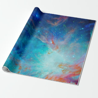 Orion Nebula shimmering blue NASA Wrapping Paper