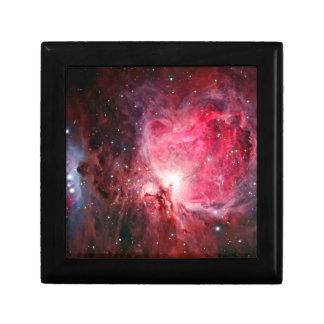 Orion nebula small square gift box