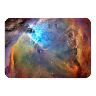 Orion Nebula Space Galaxy 9 Cm X 13 Cm Invitation Card