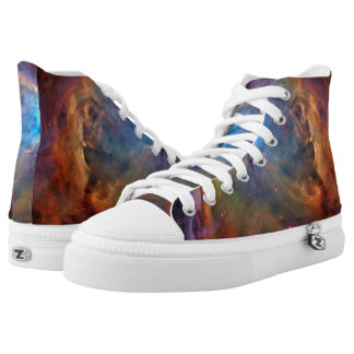 Orion Nebula Space Galaxy High Top Shoes Printed Shoes