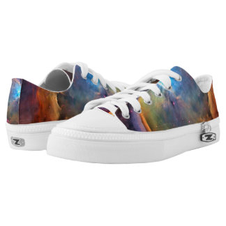 Orion Nebula Space Galaxy Low Top Shoes Printed Shoes