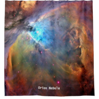 Orion Nebula Space Galaxy Shower Curtain