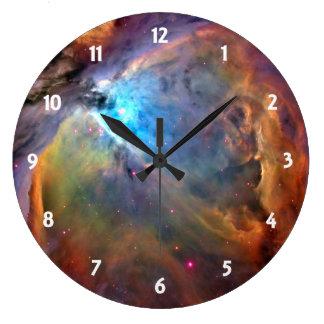 Orion Nebula Space Galaxy Wall Clocks