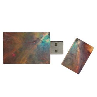 Orion Nebula Space Galaxy Wood USB 3.0 Flash Drive