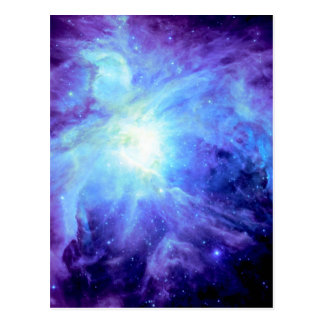 Orion Nebula Turquoise Periwinkle Lavender Galaxy Postcard
