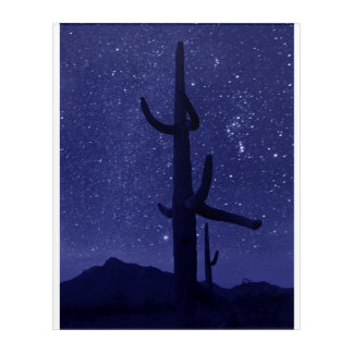 Orion Over Saguaros at Picacho Peak Acrylic Print