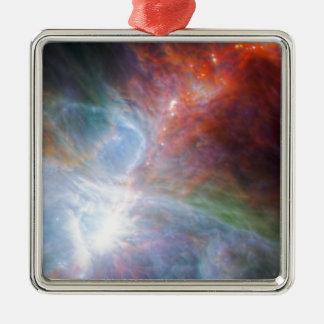 Orion Rainbow Silver-Colored Square Decoration