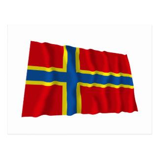 Orkney Waving Flag Postcard