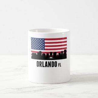 Orlando FL American Flag Magic Mug