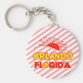 Orlando, Florida Basic Round Button Key Ring