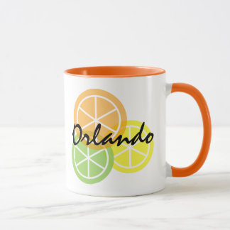 Orlando Florida Citrus Orange LimeLemon Coffee Mug