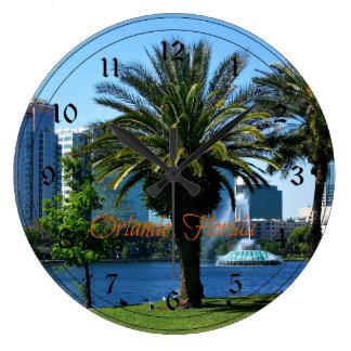 Orlando Florida Cityscape Large Clock