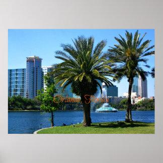 Orlando Florida Cityscape Poster