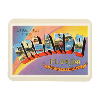 Orlando Florida FL Old Vintage Travel Souvenir Rectangular Photo Magnet