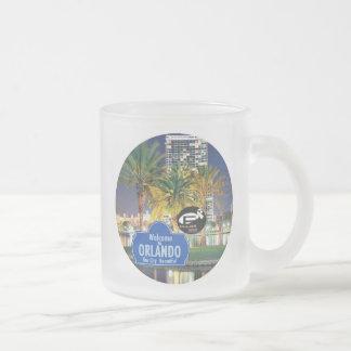 Orlando Florida Frosted Glass Mug