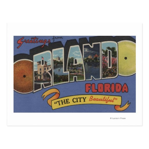 Orlando, Florida - Large Letter Scenes Postcard
