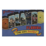 Orlando, Florida - Large Letter Scenes Posters