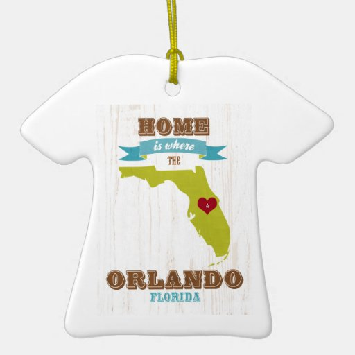 Orlando, Florida Map – Home Is Where The Heart Is Ornaments