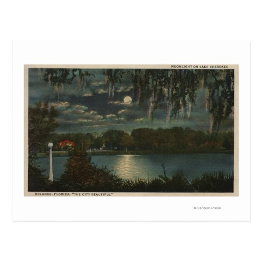 Orlando, Florida - Moonlit View of Lake Cherokee Post Cards