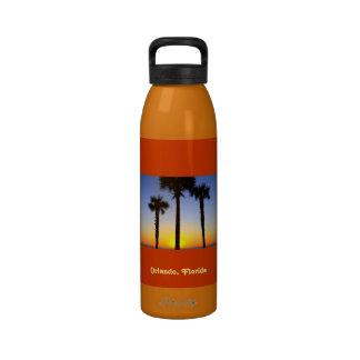 Orlando, Florida palm trees water bottle