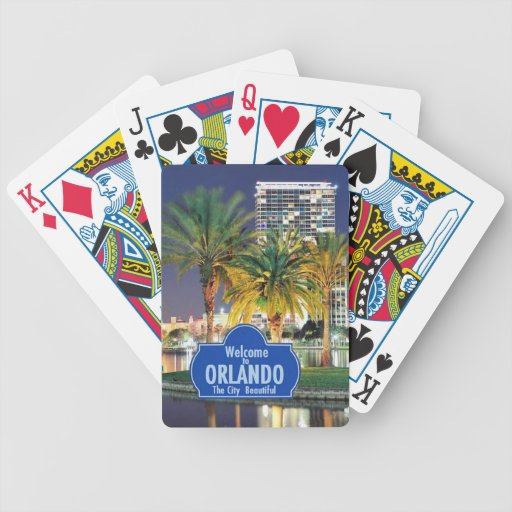 Orlando Florida Bicycle Playing Cards