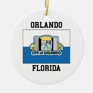 Orlando Florida Round Ceramic Decoration