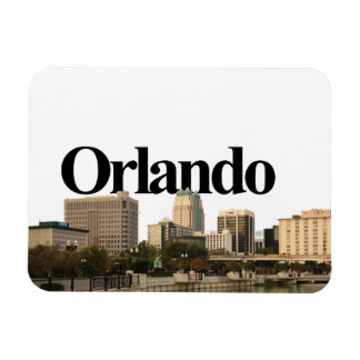 Orlando, Florida Skyline with Orlando in the Sky Magnet
