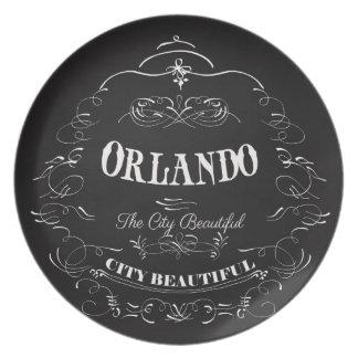 Orlando Florida - The Beautiful City Plate