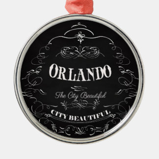 Orlando Florida - The Beautiful City Silver-Colored Round Decoration