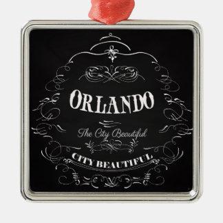 Orlando Florida - The Beautiful City Silver-Colored Square Decoration